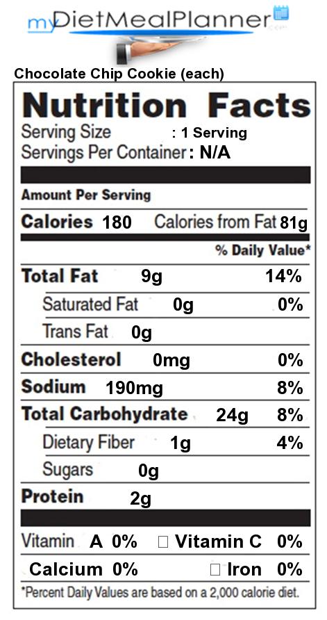 nutrition facts label por chain restaurants 19