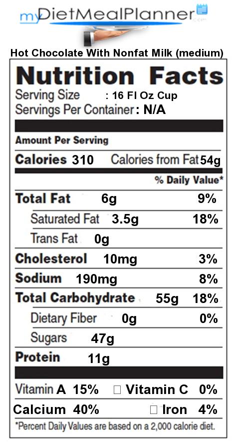 recipe: calories in hot chocolate [20]
