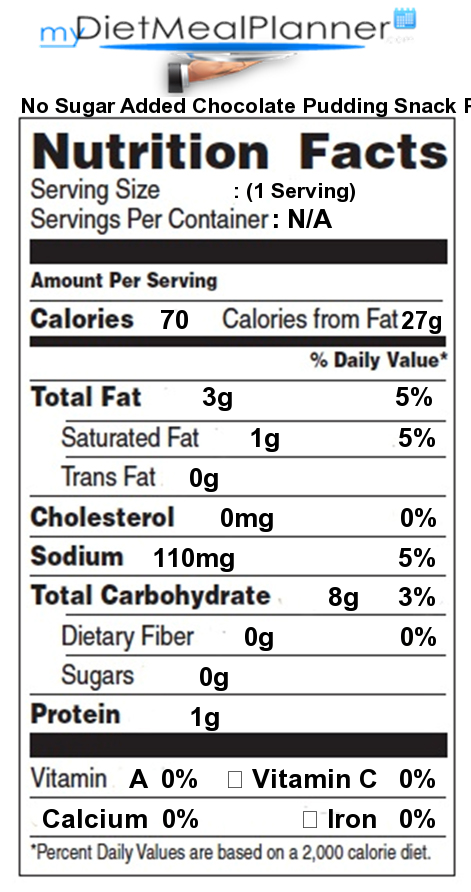 Chocolate Pudding Cake Nutrition Facts