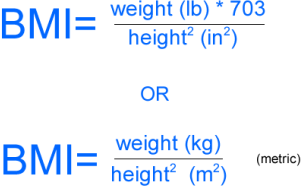 BMI Calculation Formula