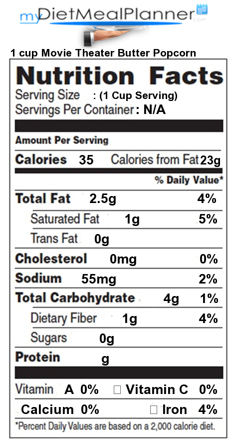 Nutrition Facts Label Snacks 2 Mydietmealplanner Com
