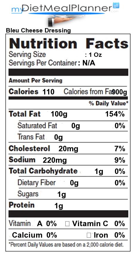 Nutrition Facts Label Popular Chain Restaurants 10