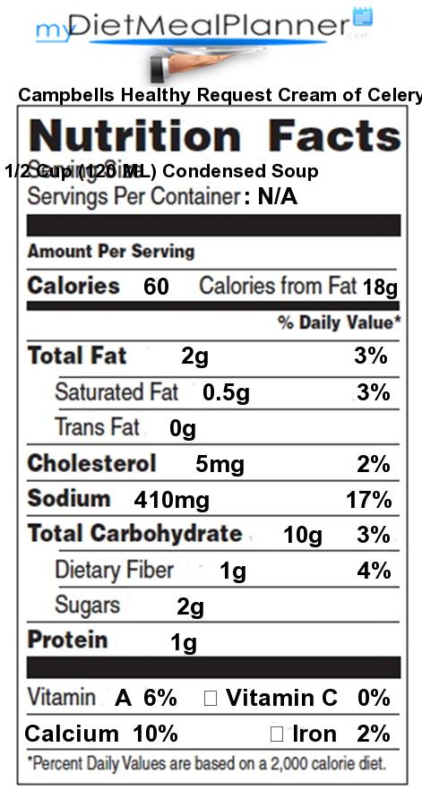 Nutrition facts Label - Soups 3