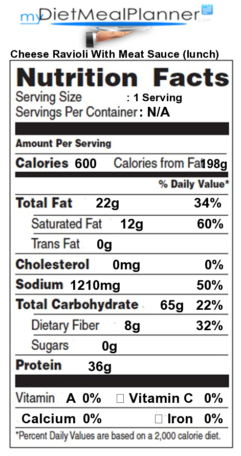 Nutrition Facts Label Popular Chain Restaurants 16