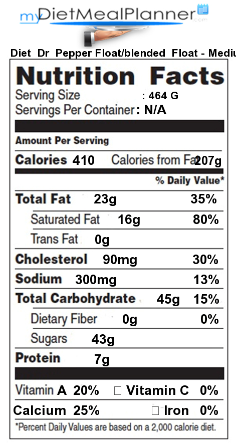 Calories In Diet Dr Pepper Image Library Calories In Your Food