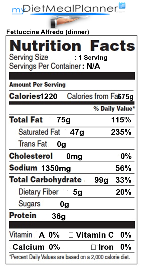 Nutrition Facts Label Popular Chain Restaurants 29