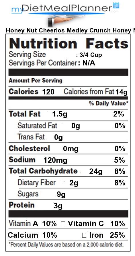 Honey nut cheerios ingredients label