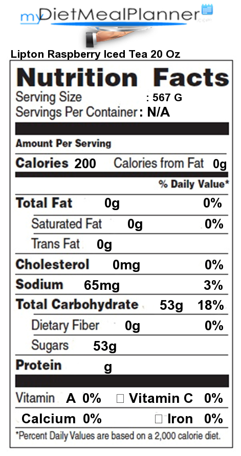 Nutrition facts Label - Popular Chain Restaurants 43 - mydietmealplanner.com