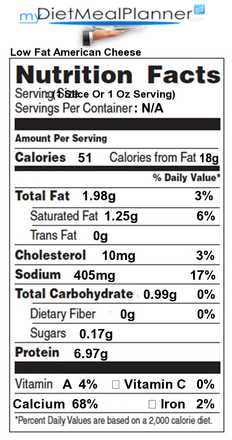 american cheese calories