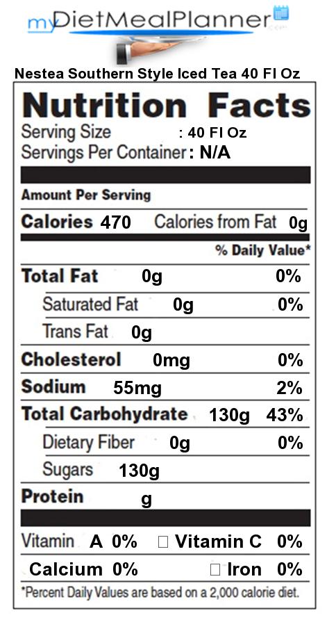 Nestea nutrition